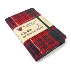 Waverley Scotland Genuine Tartan Cloth Commonplace Notebook – MacRae Modern Red (pocket)