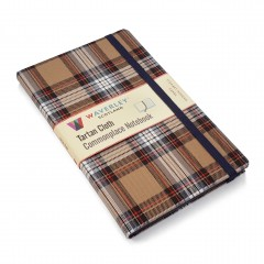 Waverley Scotland Genuine Tartan Cloth Commonplace Notebook – Stewart Modern Camel (large)